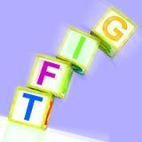 Geschenk-Wort-Durchschnitt-Geschenk-Beitrag oder Geben lizenzfreie abbildung