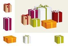 Geschenkansammlung Stockbild