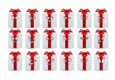 Geschenkavatara-Ikonensatz Stockbild