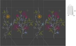 Geschenkbeutel mit gestempelschnitten (abstrakte Blumen) Stockfotos
