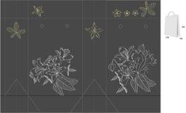 Geschenkbeutel mit gestempelschnitten (Blumen) Lizenzfreie Stockbilder
