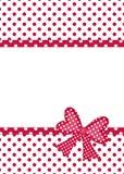 Geschenkbogen- und -farbbandgrenzen Stockfoto
