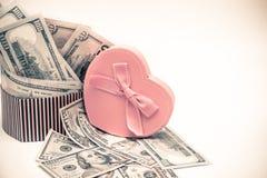 Geschenkbox als Herz Stockbild
