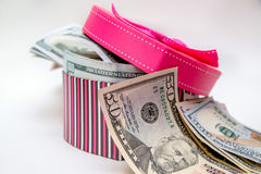 Geschenkbox als Herz Lizenzfreie Stockbilder