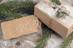 Geschenkbox bei der eco Verpackung Lizenzfreie Stockfotografie