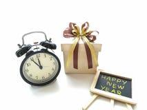 Geschenkbox für feiern neue Jahre Lizenzfreie Stockfotos