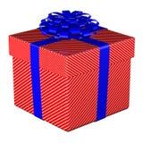 Geschenkbox gebundenes Band mit einem Bogen Stockfotos