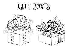 Geschenkbox-Konturen Lizenzfreie Stockfotografie