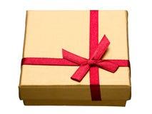 Geschenkbox lokalisiert auf Weiß lizenzfreies stockfoto