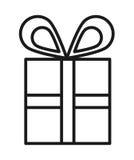 Geschenkbox lokalisiertes Ikonendesign Stockbilder