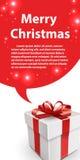 Geschenkbox mit Bogen- und Blasenrede Stockfoto