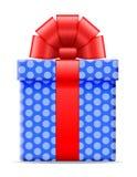 Geschenkbox mit einer Bogenvektorillustration Stockfoto