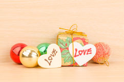 Geschenkbox mit Liebe Stockbilder