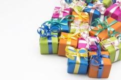 Geschenkboxen Stockfotografie