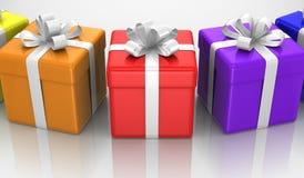 Geschenkboxen Lizenzfreies Stockbild