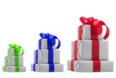 Geschenkboxen. Lizenzfreie Stockbilder