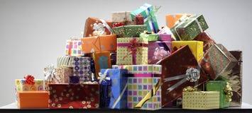 Geschenkboxen lizenzfreie stockfotos