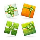 Geschenkboxen für Patrick-` s Tag Lizenzfreies Stockfoto