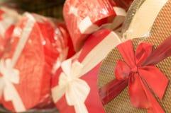 Geschenkboxen für Weihnachten und neues Jahr Stockfotografie