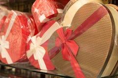 Geschenkboxen für Weihnachten und neues Jahr Stockfoto