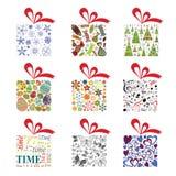 Geschenkboxsammlungs-Vektorillustration lizenzfreie abbildung