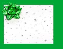 Geschenkbuchstabe an den Feiertagen stockfoto