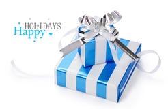 Geschenke auf weißem Hintergrund Lizenzfreies Stockfoto
