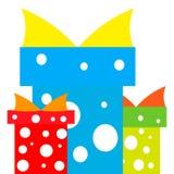Geschenke blau und rot Stockfoto