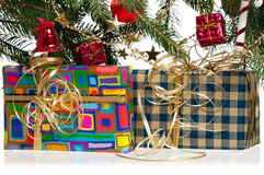 Geschenke des neuen Jahres Lizenzfreie Stockbilder