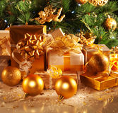 Geschenke des neuen Jahres Stockfotos