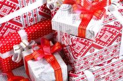 Geschenke des neuen Jahres Stockbild