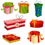 Geschenke eingestellt Stockfotos