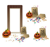 Geschenke für glückliches Halloween. Stellen Sie für Russland ein. Stockbilder