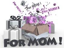 Geschenke für Mutter Lizenzfreies Stockbild