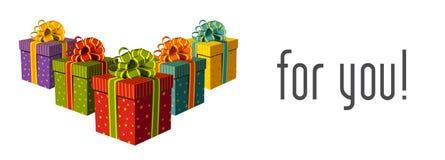 Geschenke für Sie stock abbildung