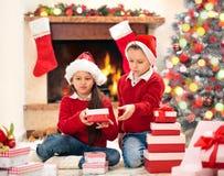 Geschenke für Weihnachten stockfotos