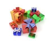 Geschenke getrennt auf weißem Hintergrund lizenzfreie stockbilder