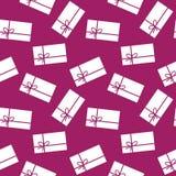 Geschenke - nahtloses Muster Stockbilder