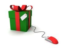Geschenke online Stockfoto