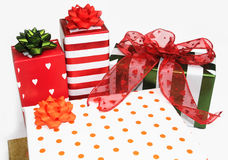 Geschenke u. Geschenke Stockbild