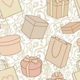 Geschenke und Kaufmuster Lizenzfreie Stockbilder
