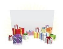 Geschenke und Zeichen-Konzept Lizenzfreies Stockbild