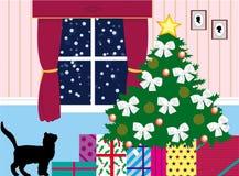 Geschenke unter dem Baum Stockbild