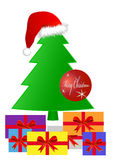 Geschenke unter einem Weihnachtsbaum Stockfotos