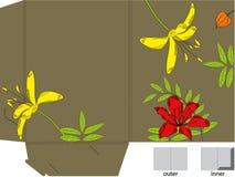 Geschenkfaltblatt mit gestempelschnitten Stockbilder