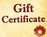 Geschenkgutschein Stockfoto