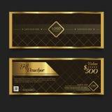 Geschenkgutschein-Premier Gold Vektor Stockbild