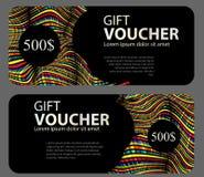 Geschenkgutschein-Schablone für Ihr Geschäft Auch im corel abgehobenen Betrag Lizenzfreie Stockbilder