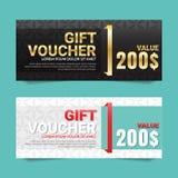 Geschenkgutschein-Vektorhintergrund Lizenzfreies Stockfoto