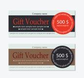 Geschenkgutscheinfahne Lizenzfreie Stockfotos